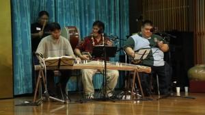 Ukwanshin Jiute/ musicians.  Derek Fujio, Scotty Moriyama, Norman Kaneshiro, Keith Nakaganeku